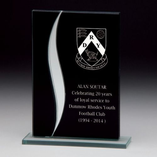 Spirit Mirror Glass Award Black & Silver 125mm